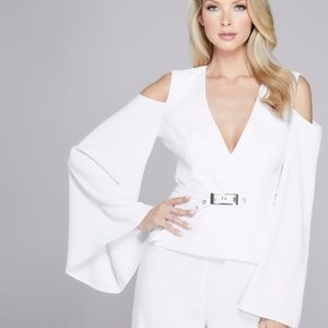 NEW GUESS BY MARCIANO AYANA OPEN-SHOULDER BLAZER